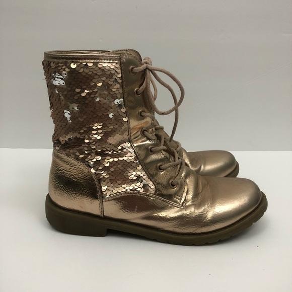 Rose Gold Sequin Boot   Poshmark